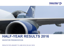Half-Year Results 2016 – Investor Presentation