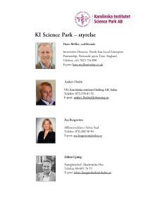 Karolinska Institutet Science Park – styrelse