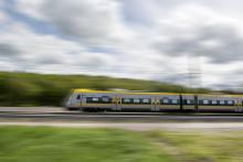Premiär för nya tågen på Kungsbackapendeln