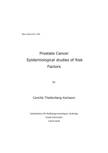 Epidemiological studies of Risk Factors