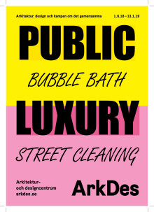 Utställningskatalog Public Luxury - info om alla medverkande.
