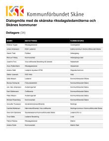 Deltagare Skånebänken 31 mars 2017