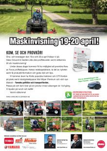 Maskinvisning 19-20 april i Västerås