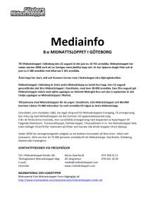 Mediainformation Midnattsloppet Göteborg 2015