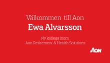 Aon har rekryterat Ewa Alvarsson