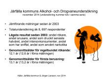 Resultat från drogvaneundersökningen 2014