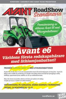 Sverigepremiär för eldrivna Avant e6 - världens första redskapsbärare med lithiumjonbatterier
