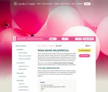 Nordic C Hotel väljer rosa i oktober