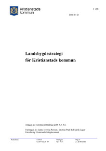 Kristianstads kommuns landsbygdsstrategi
