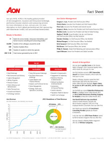 Aon Fact Sheet
