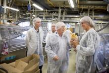Landsbygdsminister besökte Polarbröds bageri i Älvsbyn
