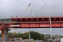 "Video: Mersey Gateway bridge building machine ""Webster"""