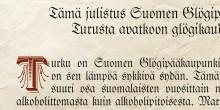 Suomen glögipääkaupunki Turku julistaa avatuksi glögikauden 2017