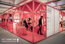 """Den svenska designpaviljongen på London Design Fair utsedd till """"Bästa monter 2018"""""""