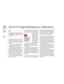 Placer EU's laegemiddelagentur i København