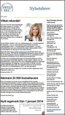 SwedSecs nyhetsbrev 1 – 2014