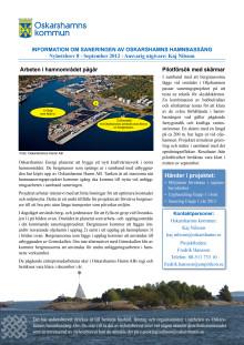 Nyhetsbrev 8 - sanering av Oskarshamns hamnbassäng
