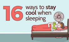16 Ways To Stay Cool When Sleeping [An Infographic from Dreams]
