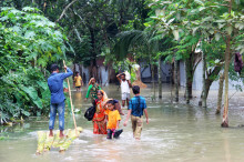 Akut läge efter monsunregn i södra Asien