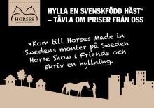 Hylla en svenskfödd häst och tävla om superfina priser