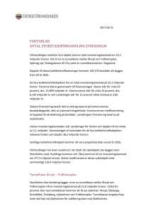Faktablad Sverigeförhandlingen Stockholm-avtalssignering