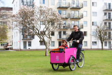 I Malmö rullar Sveriges första större cykelpool för lådcyklar