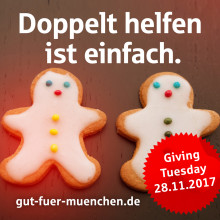 Es ist wieder #Giving Tuesday:  Stadtsparkasse München verdoppelt Spenden mit 10.000 Euro
