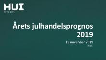HUIs julhandelsprognos 2019