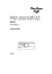 Årsregnskab Peter Larsen Kaffe 2015/2016