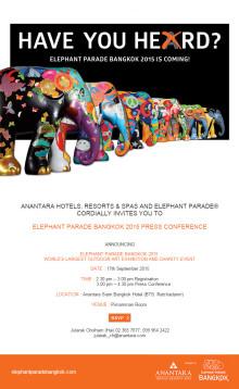 Elephant Parade Bangkok 2015 Press Conference