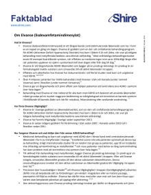 Faktablad om Elvanse (lisdexamfetamindimesylat)