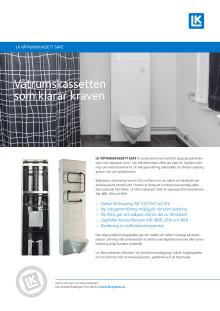 Produktblad LK Våtrumskassett SAFE