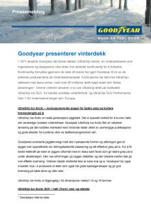 Goodyear presenterer vinterdekk - Pressemelding
