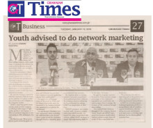 Youth advised to do network marketing