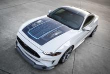 A Webasto és a Ford közös fejlesztésű Mustang 'Lithium' akkumulátoros elektromos gép a holnap izomautóit vetíti a SEMA látogatói elé