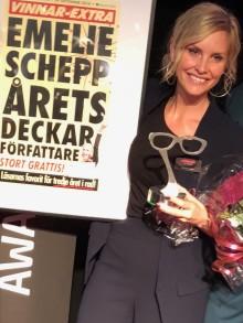 Emelie Schepp vinner Crimetime-priset Årets deckarförfattare – Läsarnas pris för tredje året i rad!