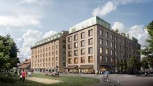 Castellum uppför kontorshuset Emigranten Göteborg