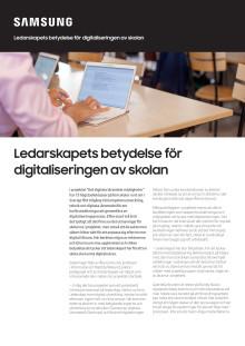 Ledarskapets betydelse för digitaliseringen av skolan