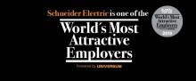 Schneider Electric utsedd till en av världens 50 mest attraktiva arbetsgivare