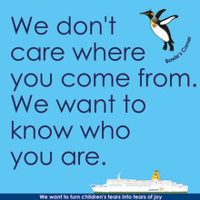 We don't care where you come from. We want to know who you are.