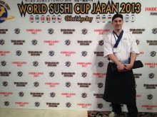 Hederspris i World Sushi Cup till Yann Sahlén från Yasuragi Hasseludden