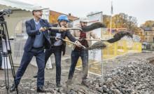 Riksbyggen tar första spadtaget för 225 nya lägenheter i Linköping