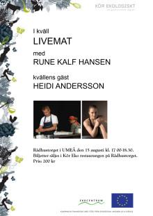 Inbjudan till Live-mat show på Rådhustorget, Umeå 15/8 kl 17.00