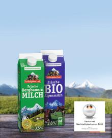 Die Molkerei Berchtesgadener Land setzt auf umweltfreundliche Verpackung von Tetra Pak und wurde für sein nachhaltiges Wirtschaften ausgezeichnet.