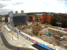 Going, going, almost gone…. demolition of Rochdale's 'black box' nearly complete