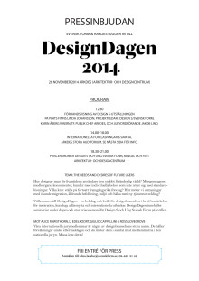 Pressinbjudan DesignDagen 26 november