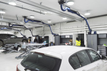 TT Fordonskadecenter miljösatsar på Polaris LED-belysning i nya lokaler