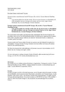 PDF Kwintet sluter avtal med Toyota