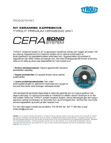 Tyrolti premium kapskiva cerabond system