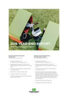 Year-end report 2018 with Q4